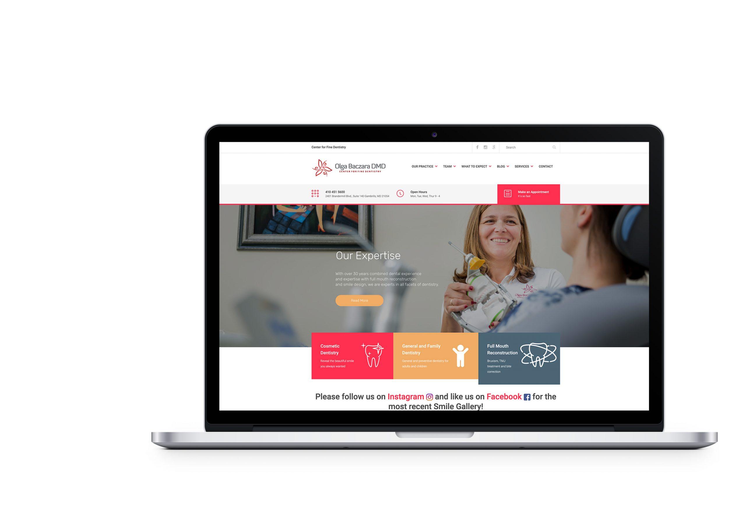 Вебсайт для Center for Fine Dentistry