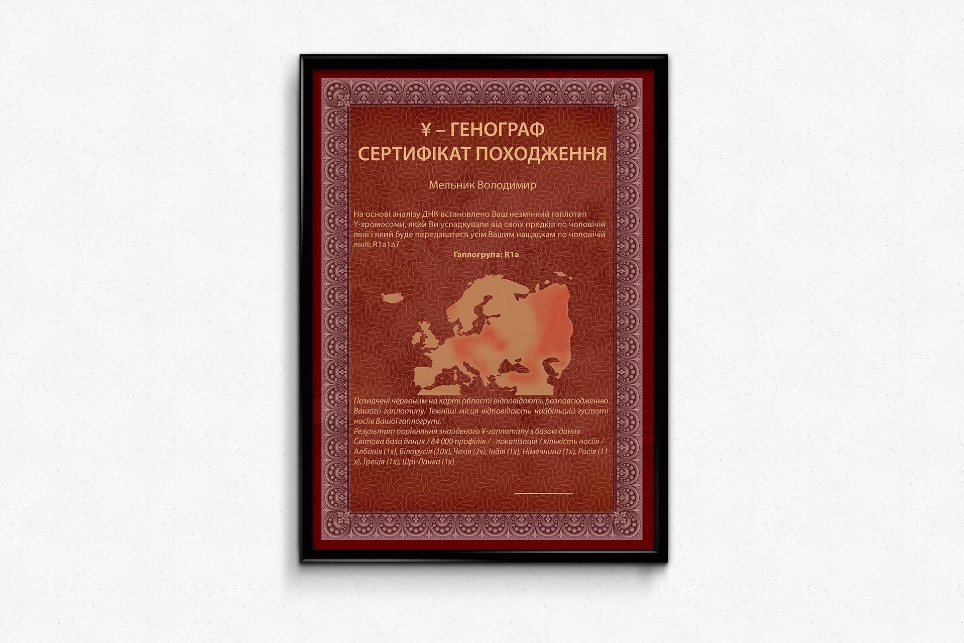 Сертифікат для компанії Leogene