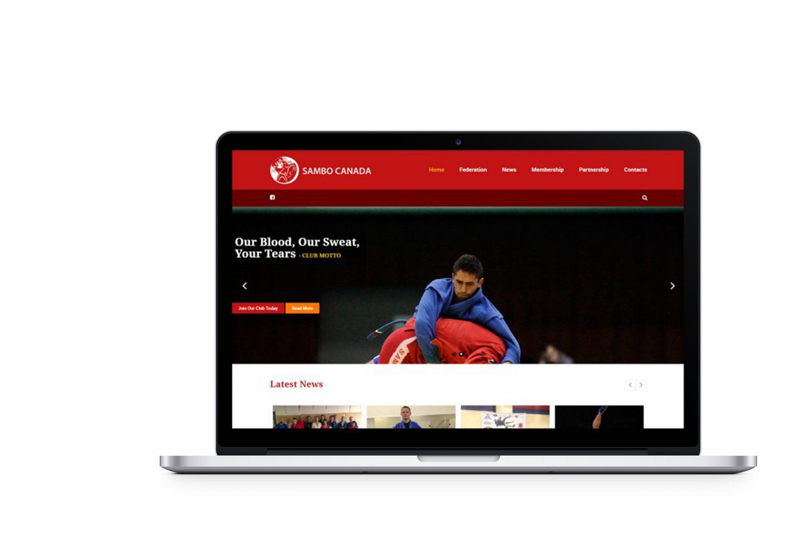 Вебсайт для національної федерації по самбо Канади