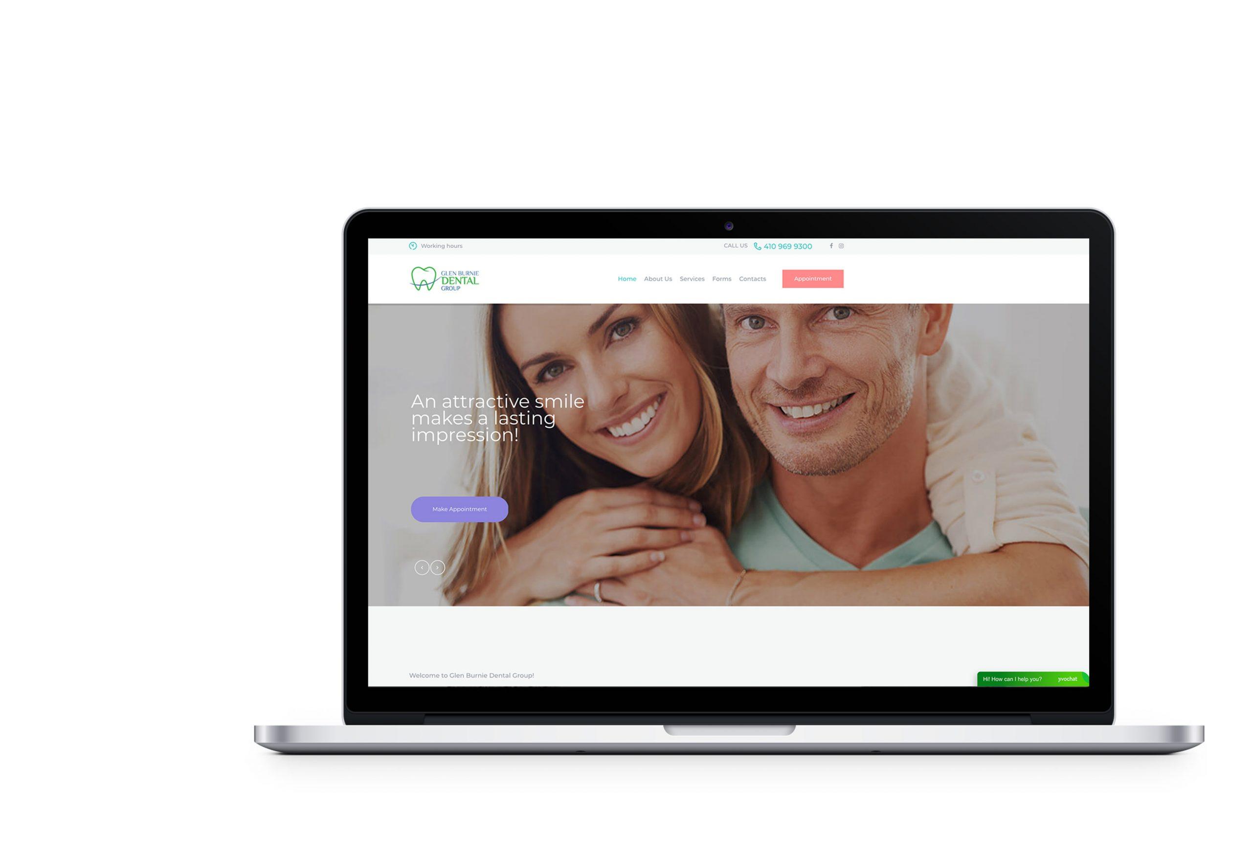 Вебсайт для Glen Burnie Dental Group