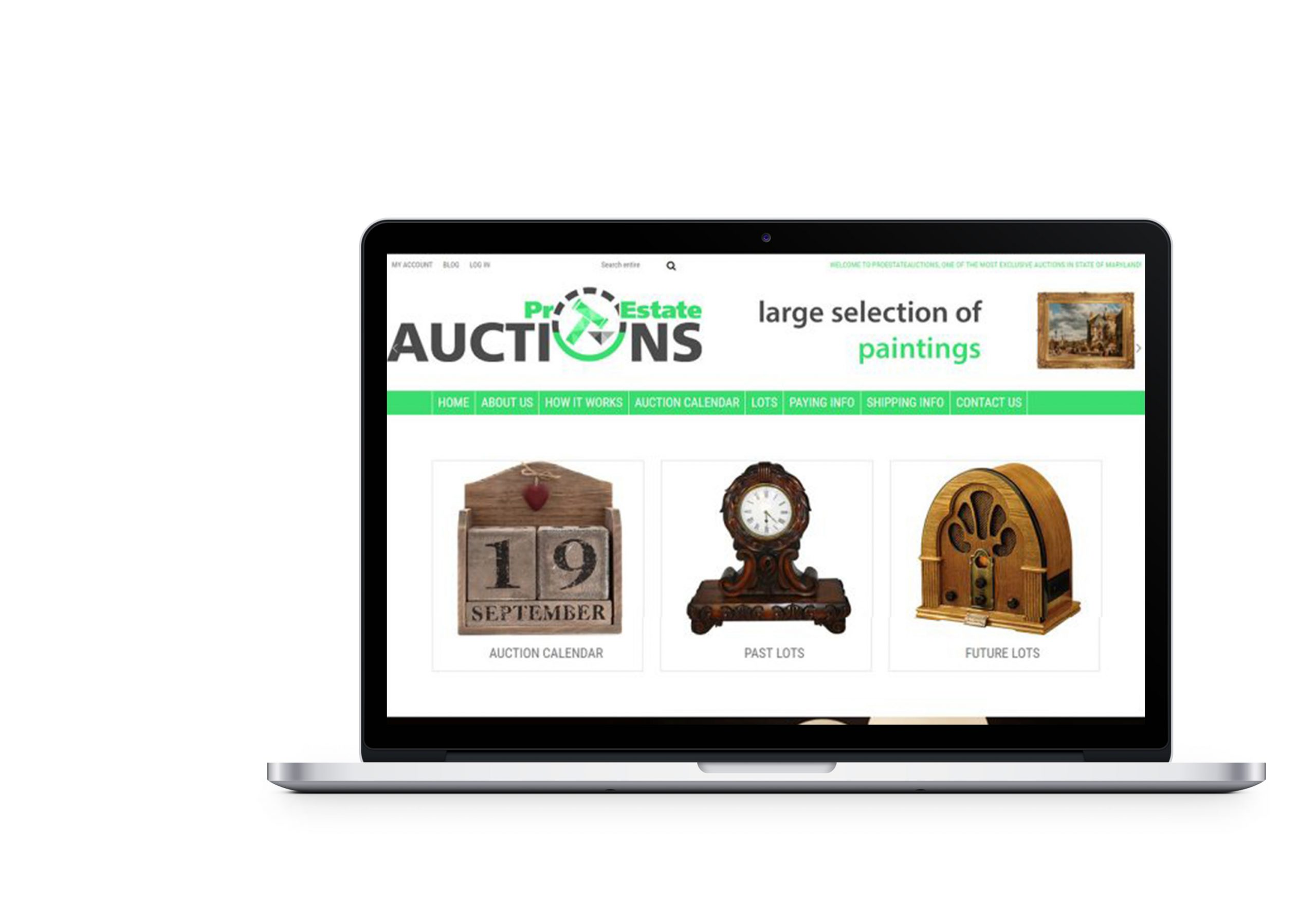 Вебсайт для Pro Estate Auction
