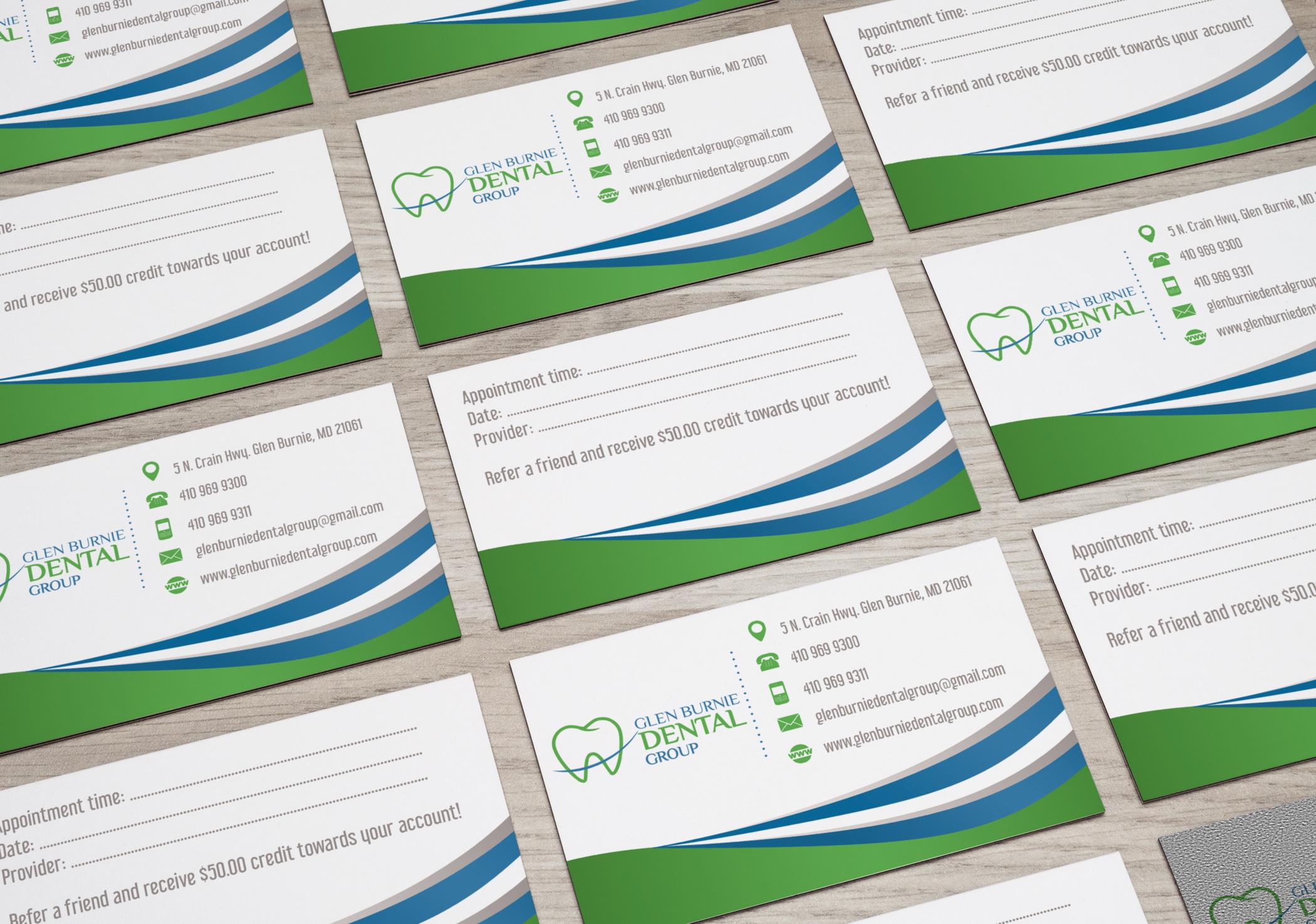 Візитки для Glen Burnie Dental Group