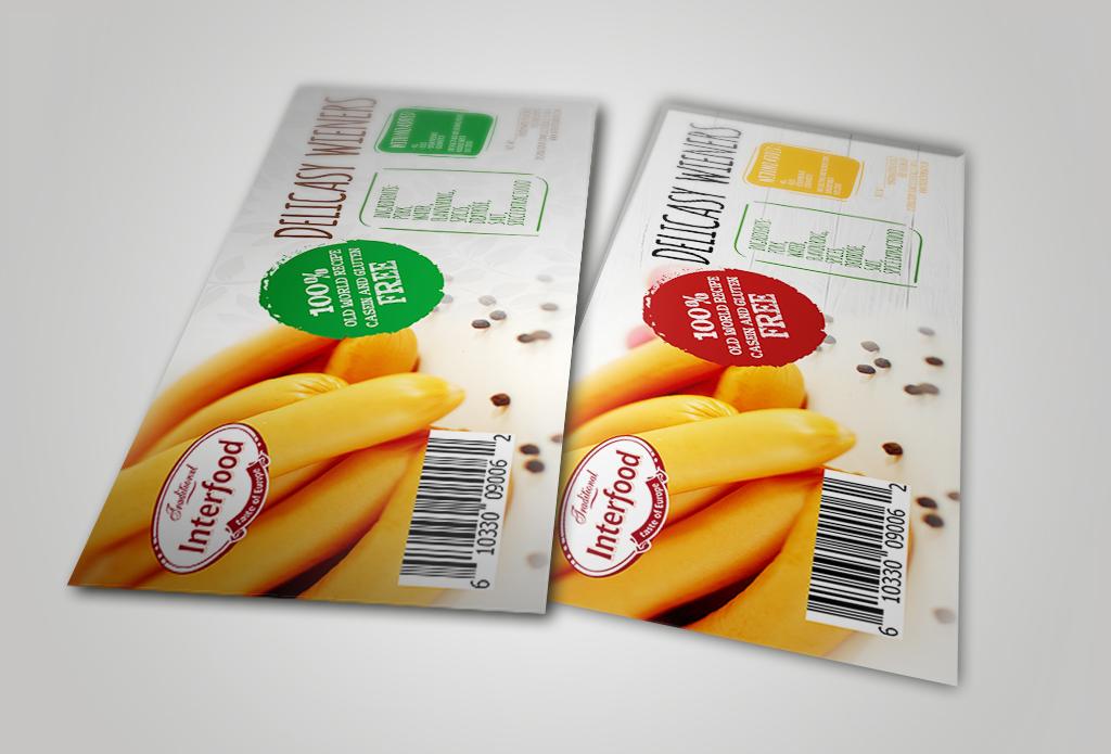 Макети етикеток для продукції фірми InterFood