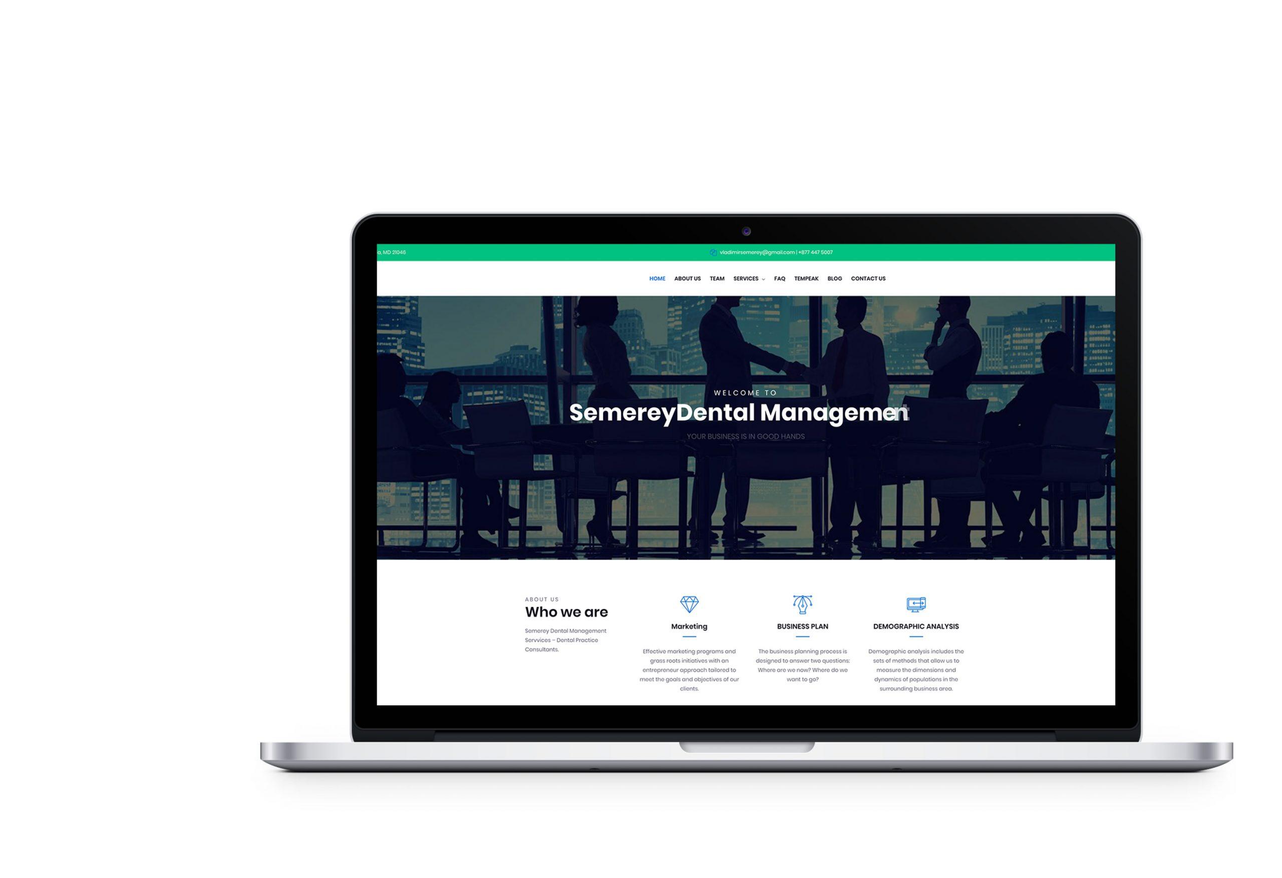 Вебсайт для Semerey Dental Management