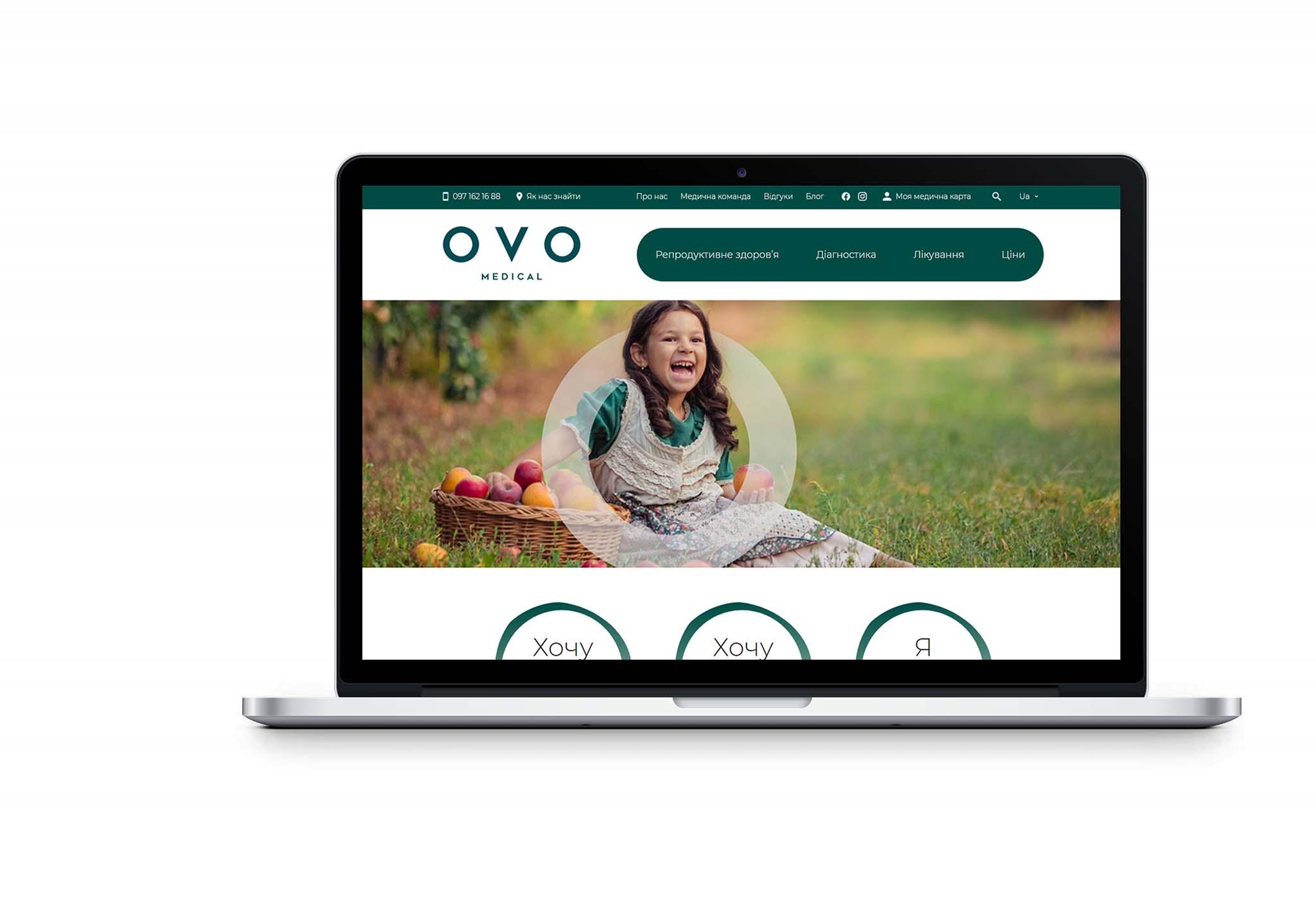 Вебсайт для Ovo Medical